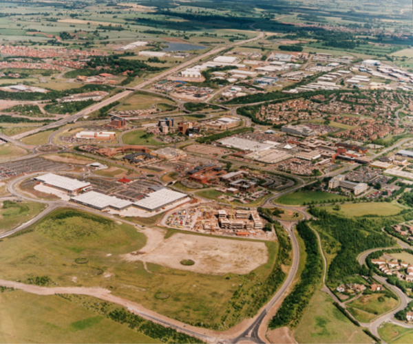 Telford was established as a new town