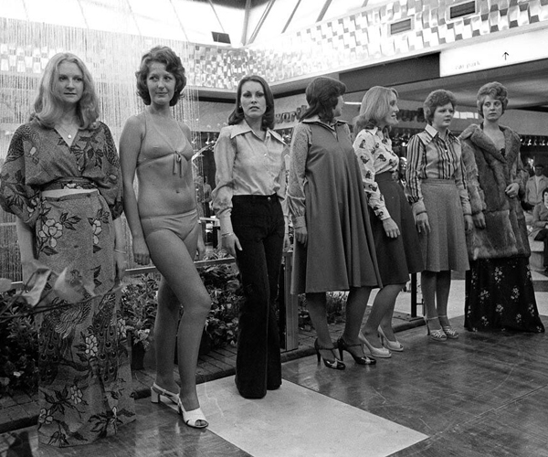 Telford Shopping Centre Fashion showcases the latest trends in 1970's fashion.