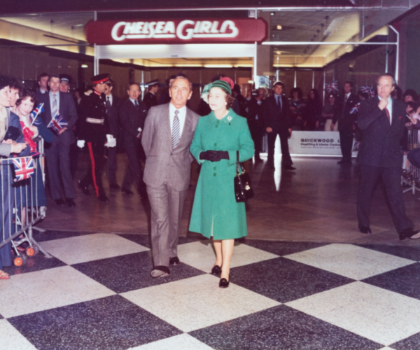 HRH Queen Elizabeth II visits Telford Shopping centre.