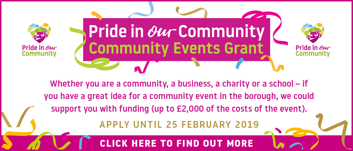 Community Events Grant banner