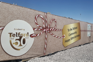 Telford 50 legacy project island image