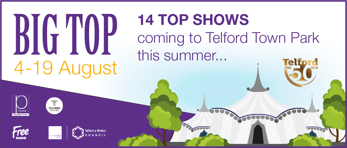 Place in the Park Big Top 4 August - 19 August banner